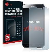 Samsung Galaxy S5/S5 Neo Panzerglas [2er Pack] - Schutzfolie Displayschutzfolie Panzerglasfolie 9H Hartglas Glasfolie