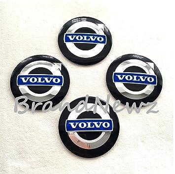 Adhesivos para tapacubos, con el diseño del logotipo de Volvo en 3D para el centro