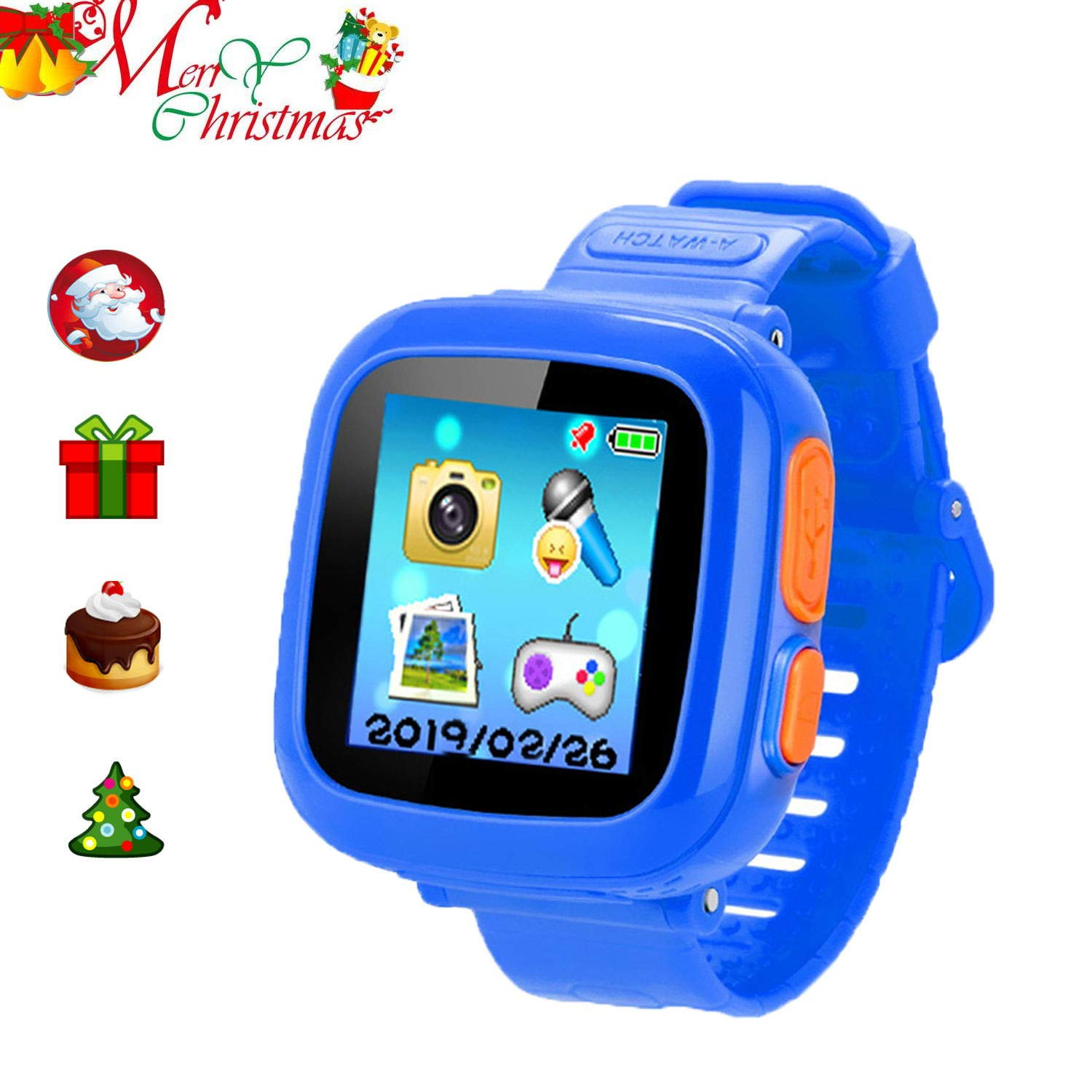 ZOPPRI Kids Game Watch Smart Watch for Kids Children's Birthday Gift with 1.5 '' Touch Screen and 10 Games, Children's Watch Pedometer Clock Smart Watch Kids Toys Boys Girls Gift. (deep Bule)