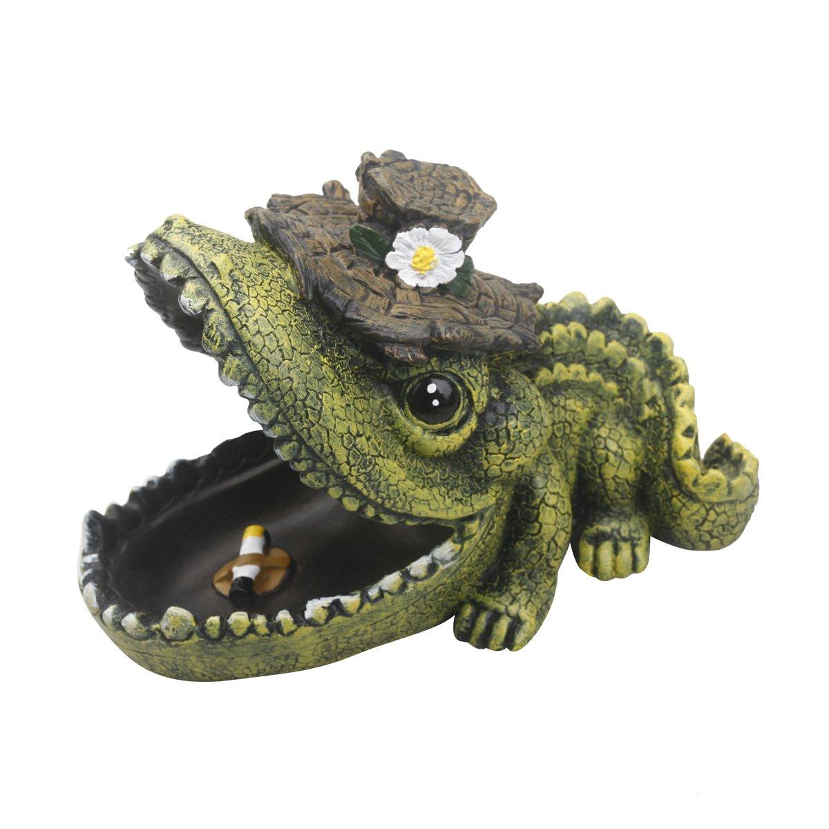 Scotte crocodile ashtray Resin ashtray Creative household Decoration ashtray