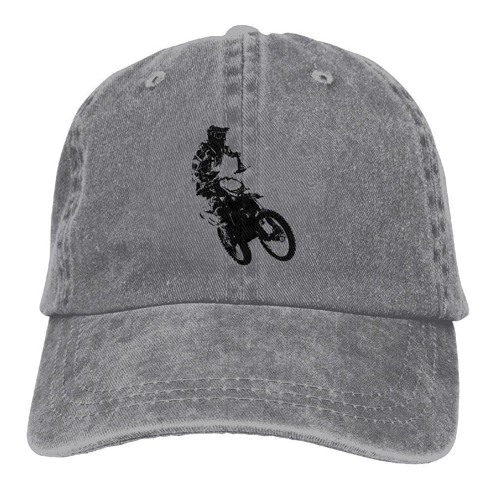Rider MotocrossWashedBaseball Cap Adult Unisex Adjustable Cap