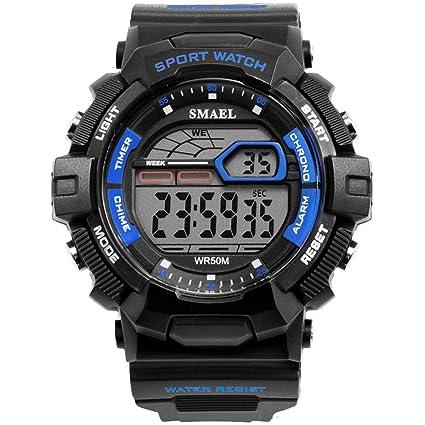 Blisfille Reloj Negro Hombre Reloj con Nombre Reloj Hombre y Mujer Pareja Reloj Digital Deportivo Reloj