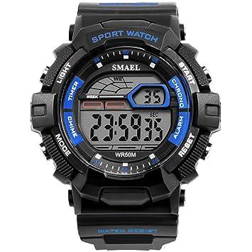 Blisfille Reloj Negro Hombre Reloj con Nombre Reloj Hombre y Mujer Pareja Reloj Digital Deportivo Reloj Digital Unisex: Amazon.es: Deportes y aire libre