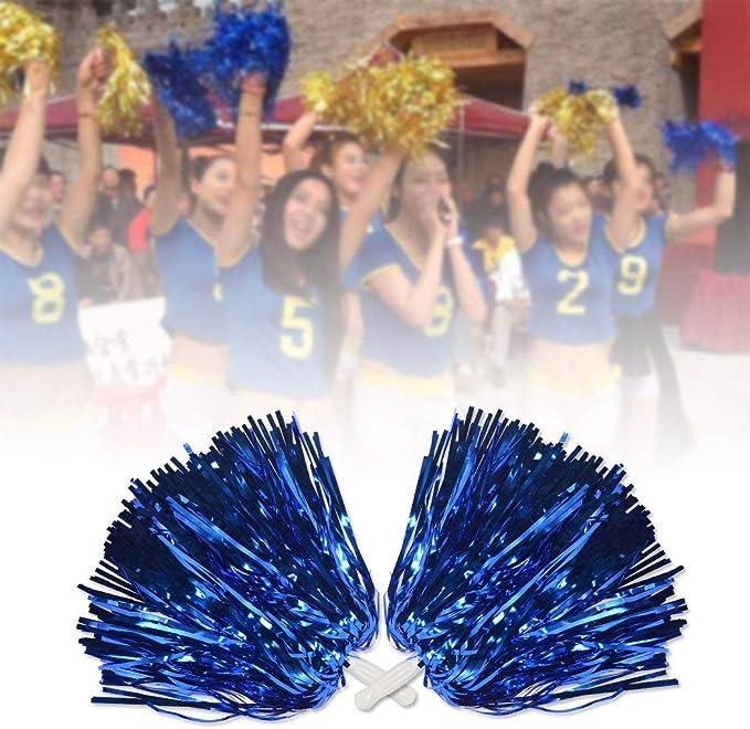 Party Dance Sports Comicfs 12 PCS Cheerleading Pom Poms Sports Dance Cheer Plastic Pom Pom for Sports Team Spirit Cheering