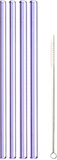 """product image for Simply Straws Straight 2 Classic & 2 Wide 8""""+ Brush (Amethyst)"""