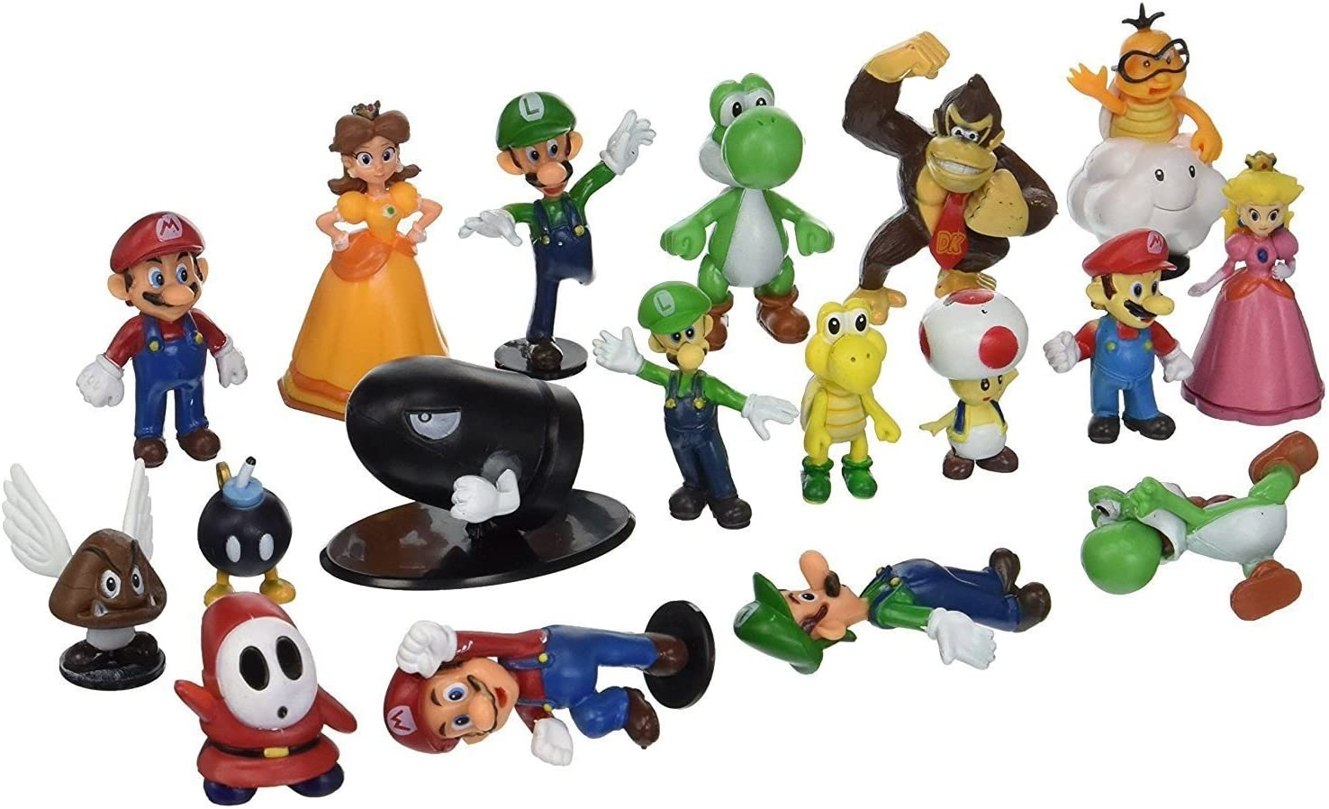 "5/""  Kids Super Mario Bros Brothers Princess Luigi PVC Action Figures Xmas Toy"