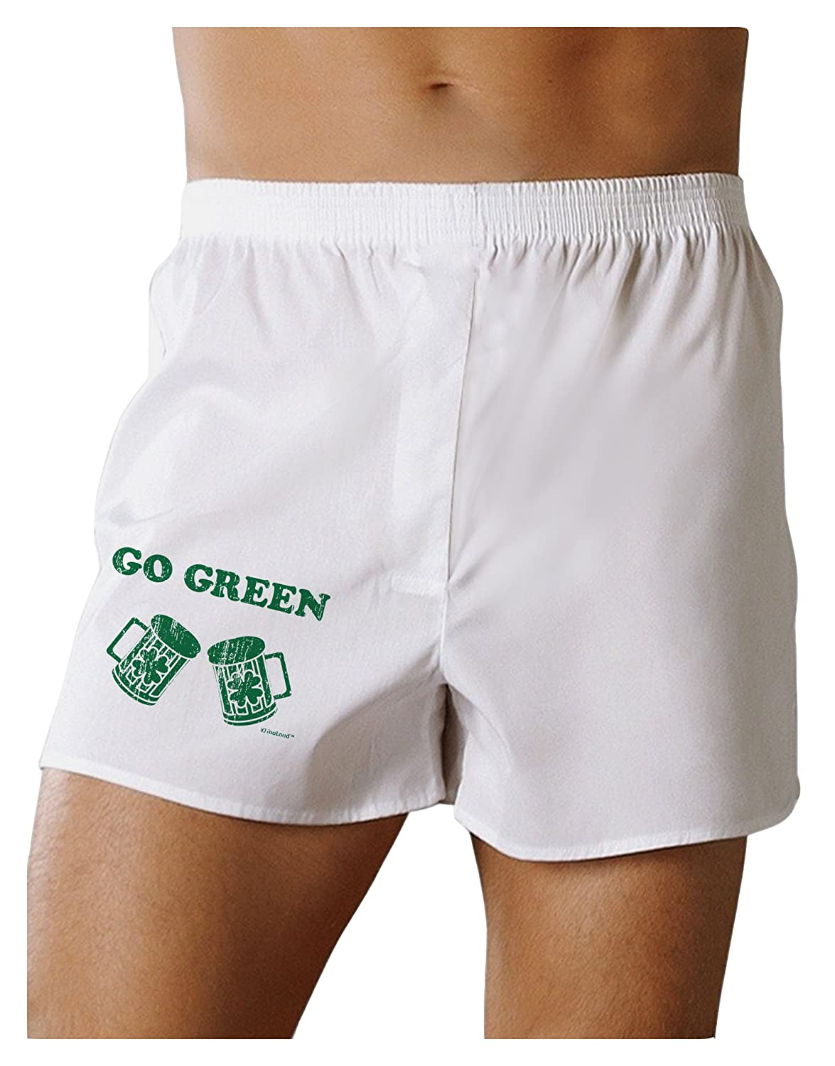 TooLoud Go Green St Patricks Day Green Beer Boxers Shorts