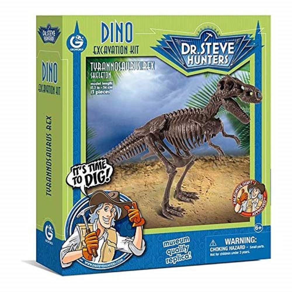 Geoworld 625262 - Dr. Steve Hunters: Dino Ausgrabungs-Set M - T-Rex-Skelett, Alter: 6+, Größe: 34 cm Größe: 34 cm CL1663K Dinosaurier