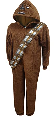 Star Wars Chewbacca Womens Pajama Union Suit One Piece Sleepwear (XS (0-2