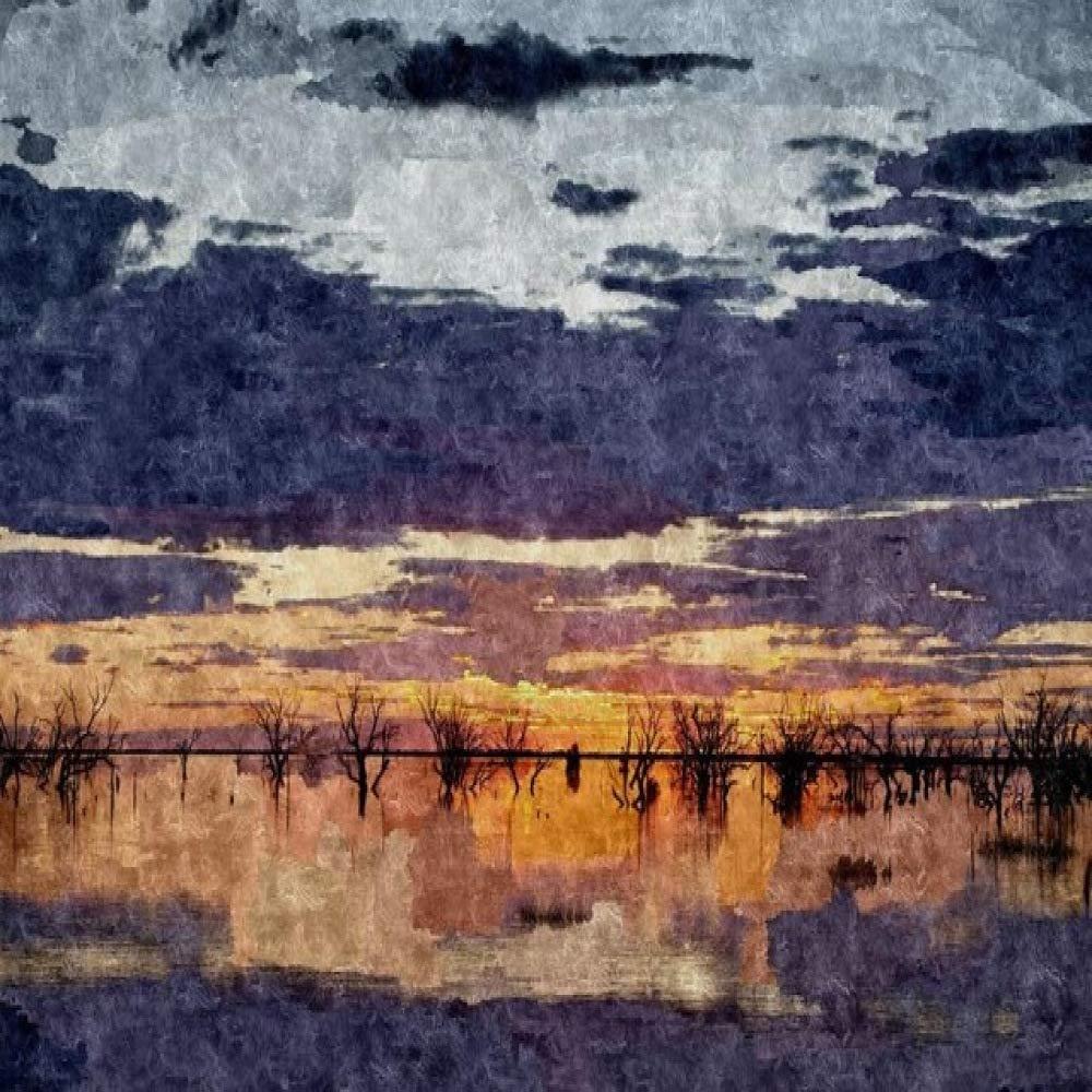 RTCKF Abstract Sea Sunrise Landscape Poster y Lienzo de Arte ...