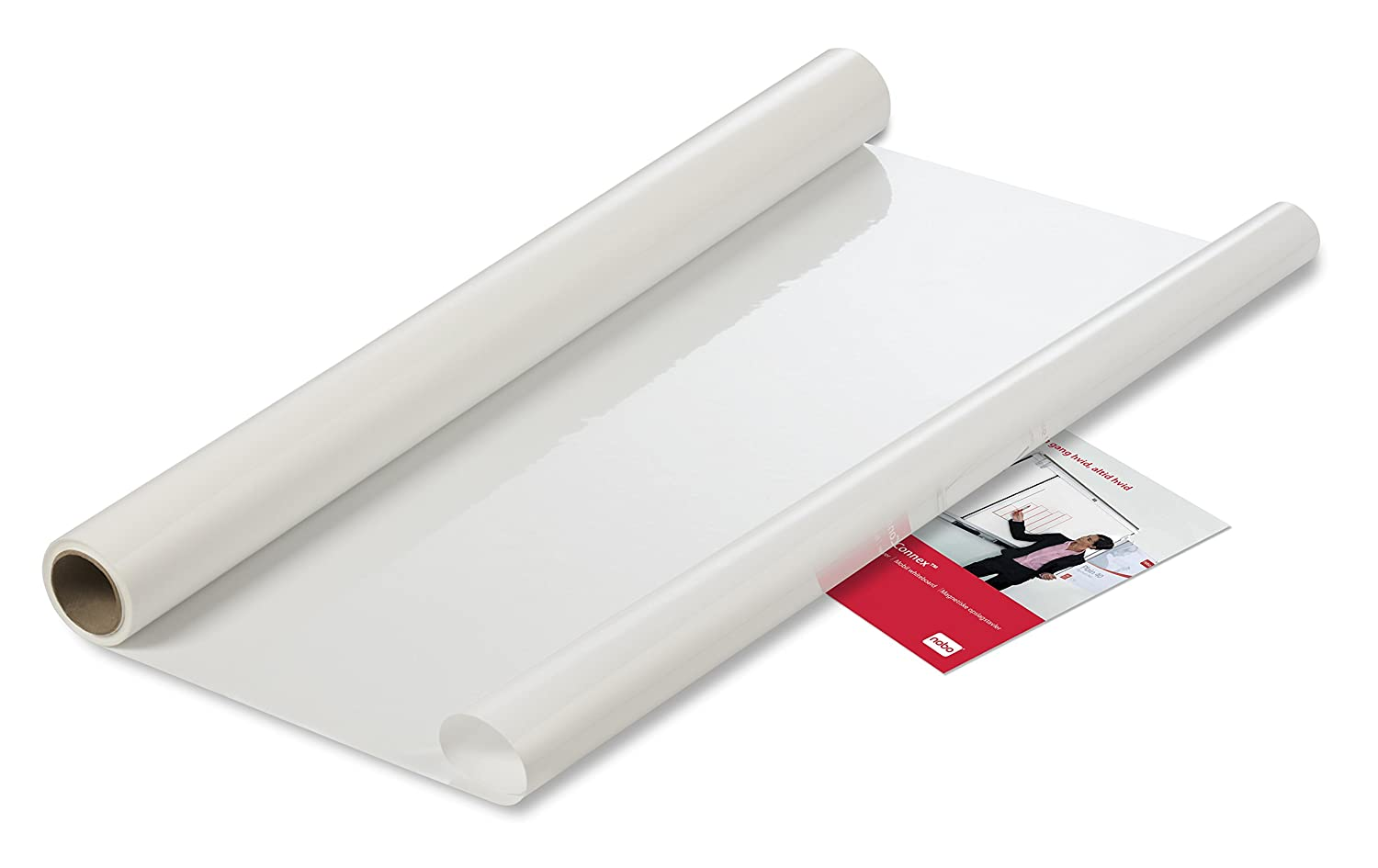 Nobo Whiteboard Sheets Instant Dry Wipe Electrostatic Sheets White and Grey Squared Removable Dry Wipe Surface Stick Anywhere for an Instant Pack of 25 800 x 600 mm 1905157