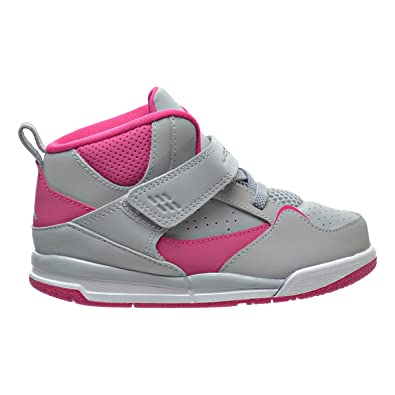online retailer a52bc eca51 Jordan Flight 45 High GT Toddler Shoes Wolf Grey/Vivid Pink/White 837025-009