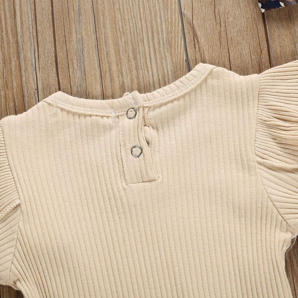 Sayolala Baby Girls Shorts Set 2PCS Newborn Kids Floral Print Romper Bodysuit Outfits Clothes 0-24 Months