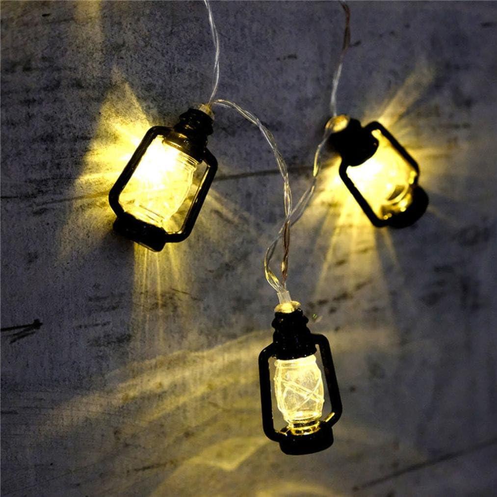 FeiliandaJJ Lichterkette Schwarz 2M 20pc Kreative Mini-Laterne Innen//Au/ßen Deko Hochzeit Party Halloween Weihnachten Haus Deko String Lights 3XAA Batterien