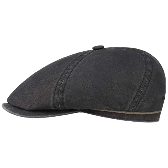 a00c66d86 Stetson Brooklin Cotton Newsboy Cap Men | Flat hat Men´s with Peak  Spring-Summer