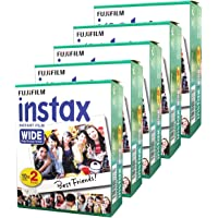 Fujifilm Instax Wide Instant Films for Fuji Instax Wide 210 200 100 300 Pack of 5