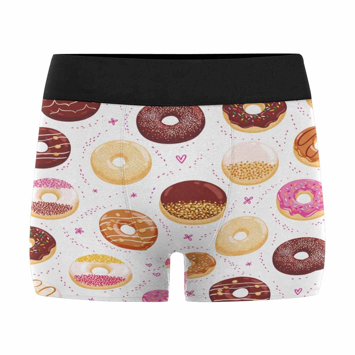 XS-3XL INTERESTPRINT Boxer Briefs Mens Underwear Donuts and Little Hearts