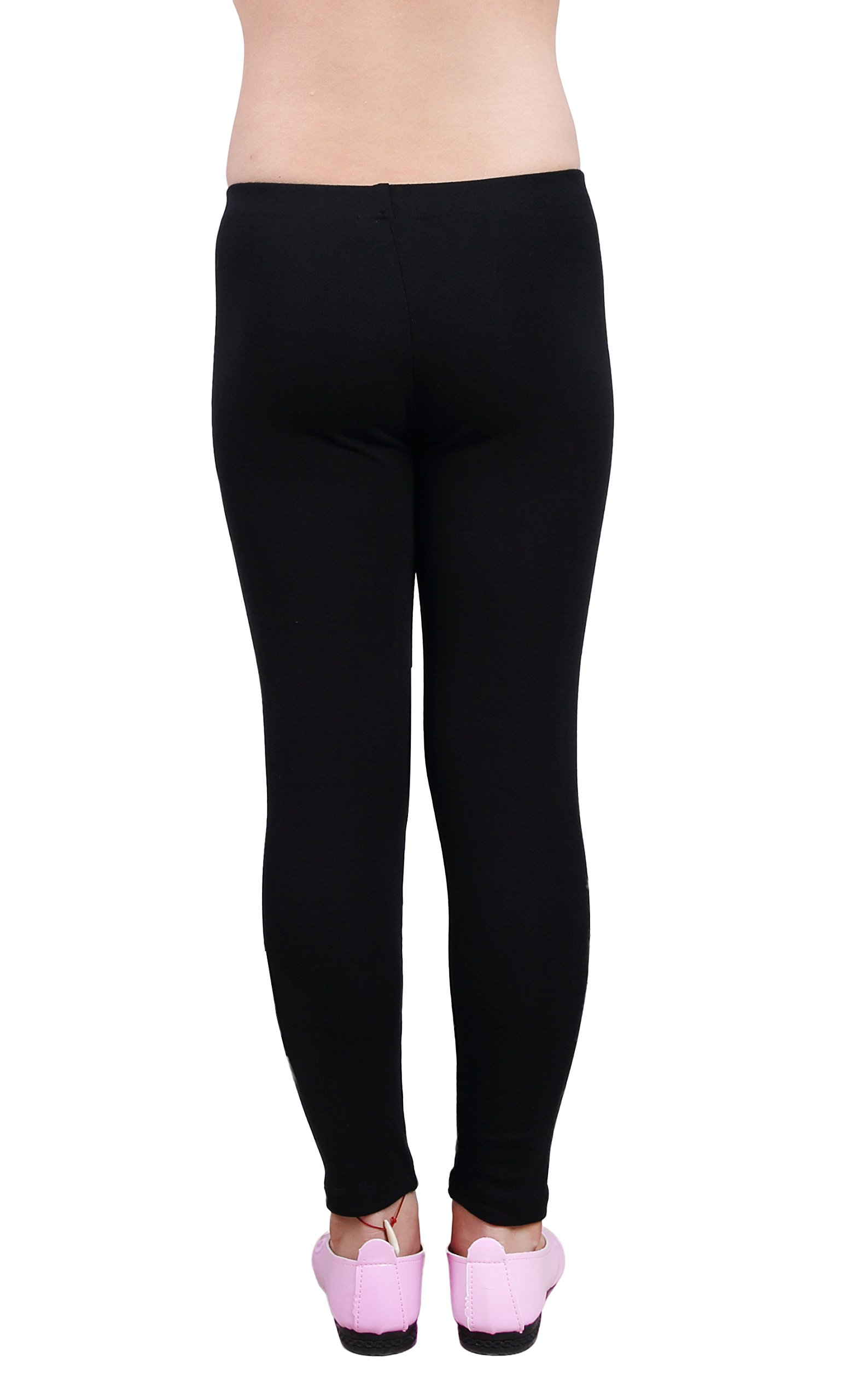 IRELIA Girls Leggings 3 Pack Cotton Solid Size 4-16 Spring/Fall 03 L by IRELIA (Image #4)