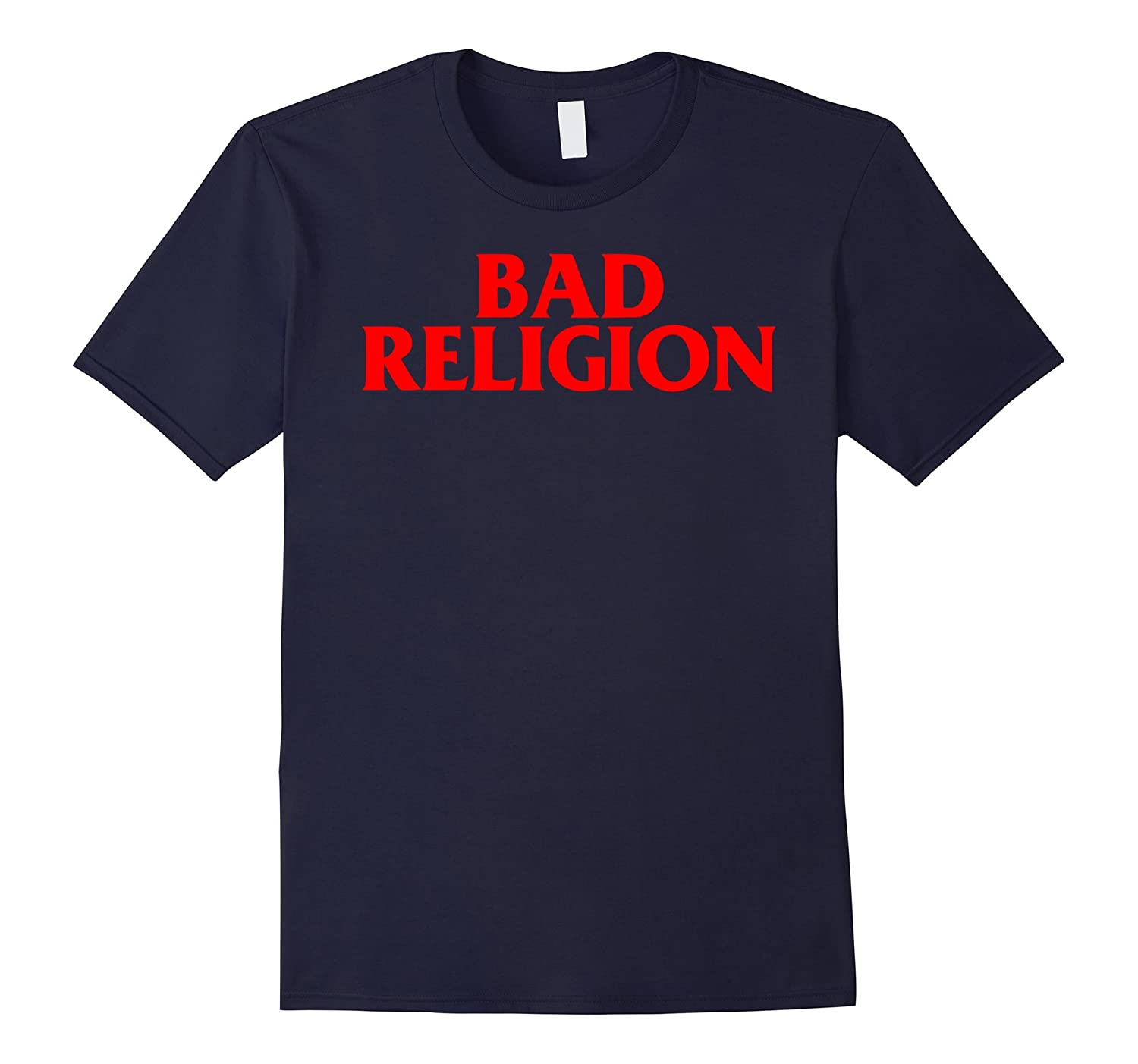 Bad Religion Plain Text in Red Punk Rock T-Shirt-BN