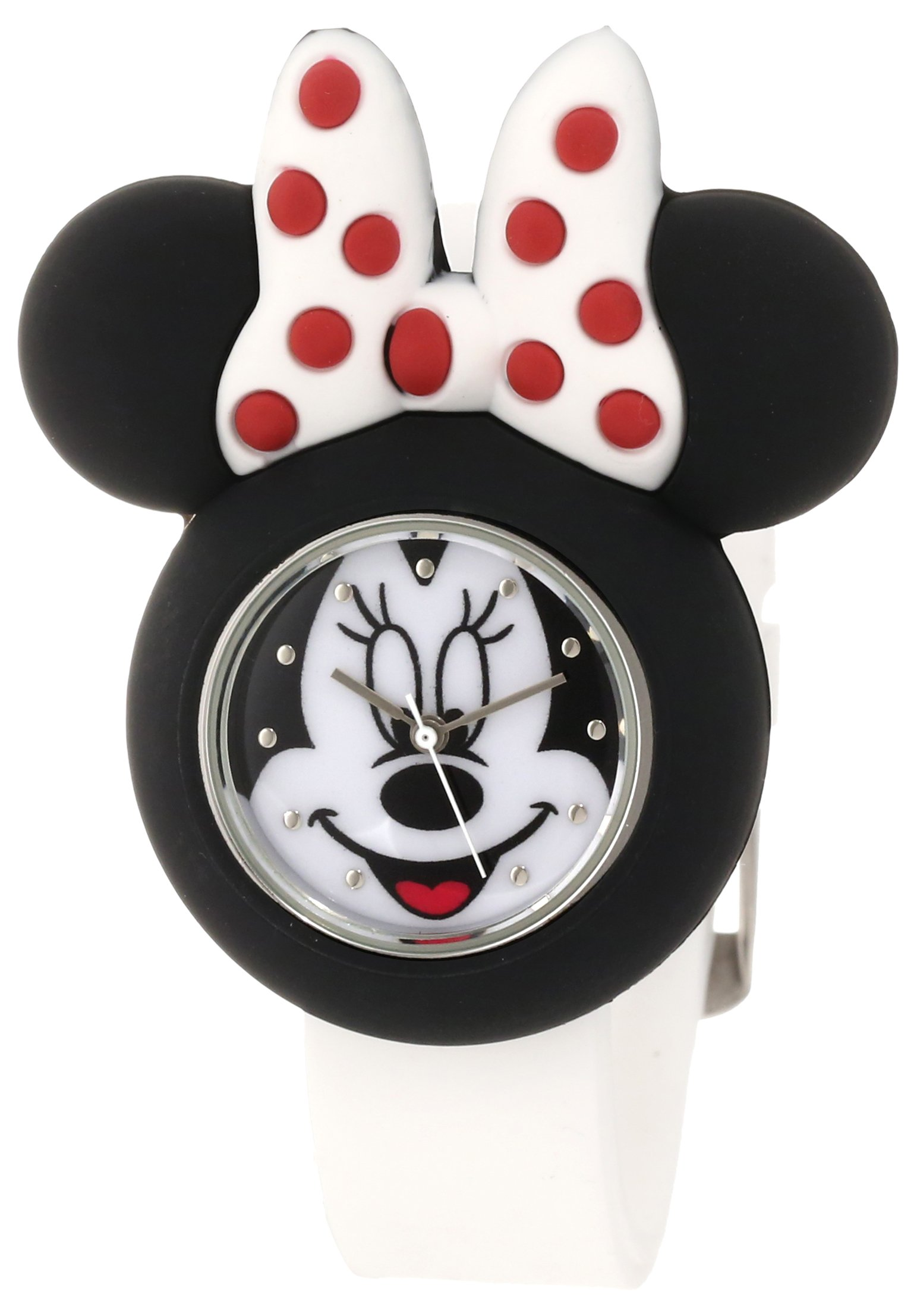 Disney Kids' MN1139 Minnie Mouse Watch with White Rubber Strap