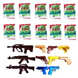 Kofun 800 Pieces 6mm Hard Plastic Bb Gun Paintball, Medium Stiff Bb Gun Paintball Toy Pistol Sniper Bullets Ball Kids Toy Random Color