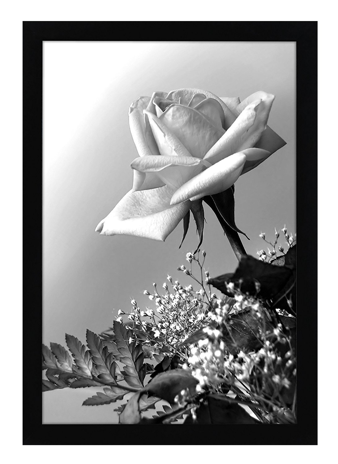 Americanflat 12x18 Black Frame with Plexiglass Front - Designed to Display Vertically or Horizontally on a Wall - Mounting Hardware Included