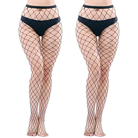cfbcdf8de72 Image Unavailable. Image not available for. Color  NYKKOLA Women s High  Waist Fishnet Tights Suspender Pantyhose ...