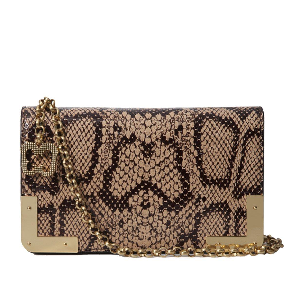 Eric Javits Luxury Fashion Designer Women's Handbag - Cassidy - Beige Mix