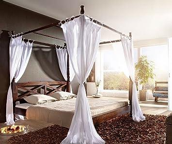 Himmelbett Bett 160 X 200 Cm Holz Natur Ton Mahagoni Antik Himmelbett  Bombay 180x200 Kolonial Himmelbett Holz 180x200 Himmelbett Weiss Holz  180x200 Outlet 1 ...