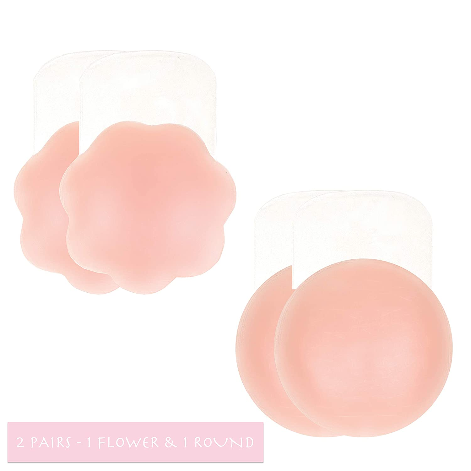 1 Flower /& 1 Round Silicone Breast Lift Tape