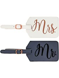Miamica Mr. and Mrs. Bridal Luggage Tags d8738311f5e90