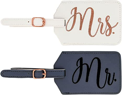 Miamica Mr and Mrs Bridal Luggage Tags