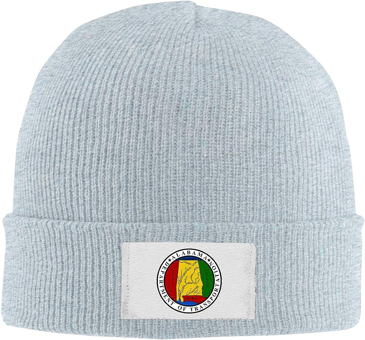RZMdSG Seal of The Alabama Department of Transportation Unisex Winter Printed Warm Knitting Hats Skull Cap