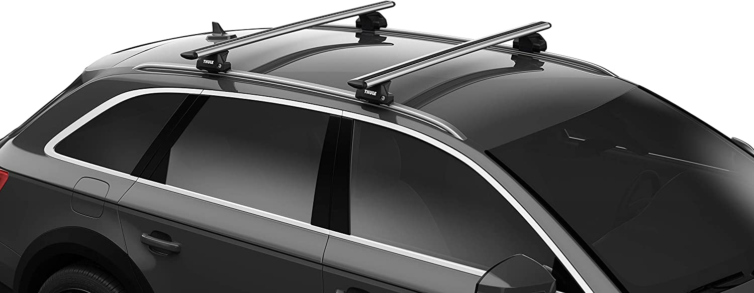 Easy-to-Install Set of Four feet for Thule Evo roof Racks Intended for Vehicles with Flush roof Rails and Rails fit The vast Majority of Such Equipped Vehicles Fits Thule Wing,
