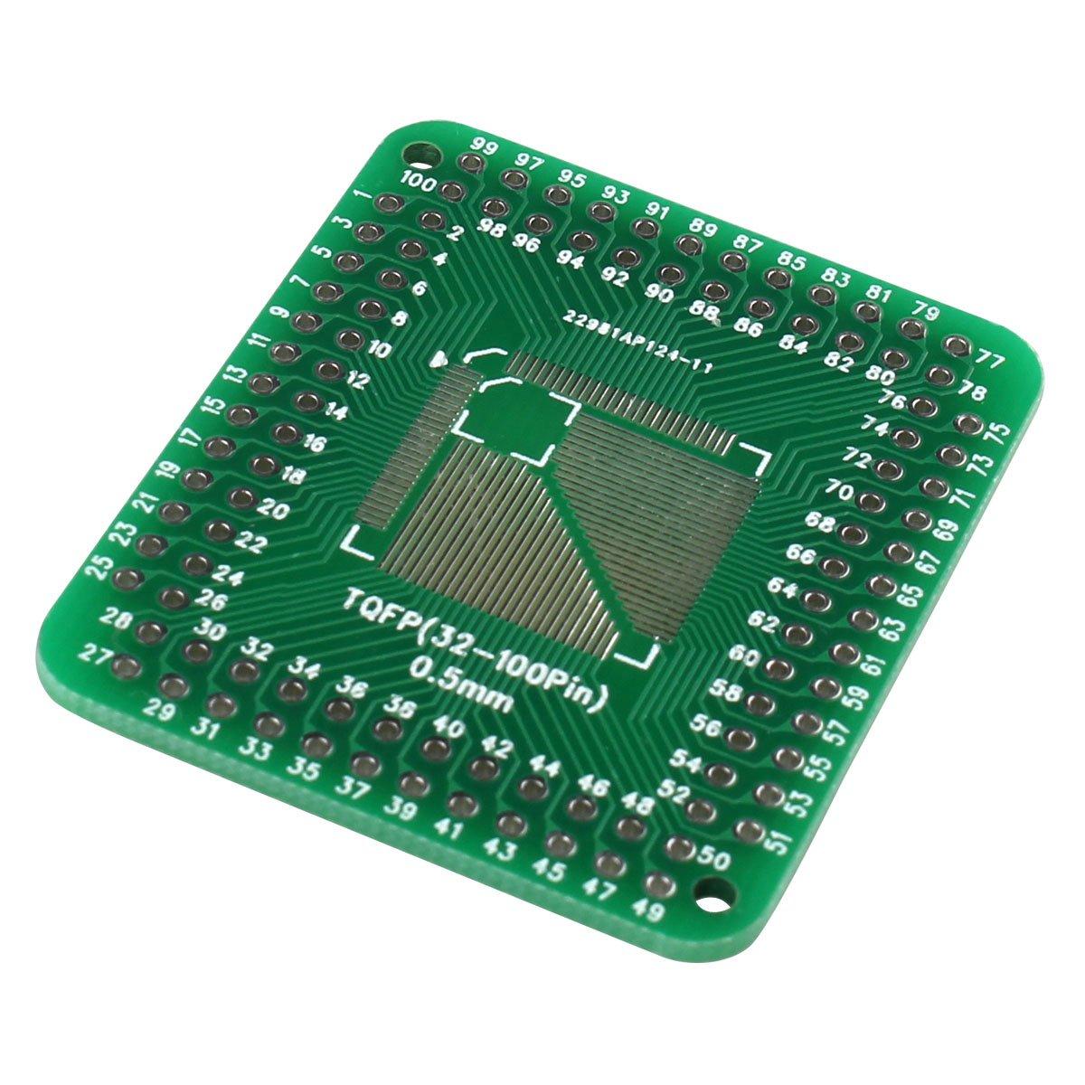 QFP FQFP TQFP 32 44 64 80 100 LQFP SMD a desengrasador 0,5//0,8 mm IC placa adaptadora JCP para Arduino