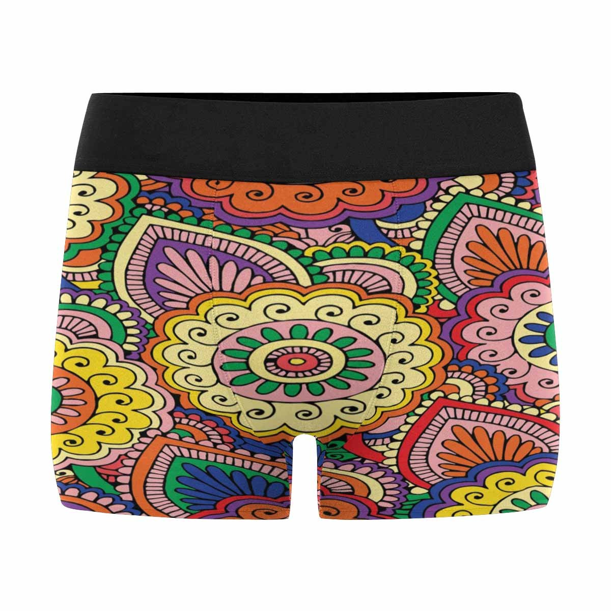 INTERESTPRINT Custom Mens All-Over Print Boxer Briefs Abstract Floral Pattern, XS-3XL