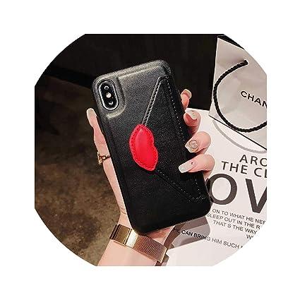 Amazon.com: Funda de piel para iPhone 6, 7, 8 Plus, X, XS ...
