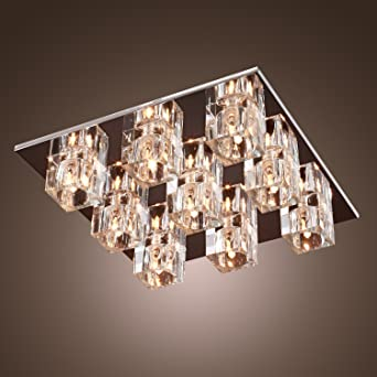 Sale lightinthebox k9 crystal ceiling light with 9 lights in sale lightinthebox k9 crystal ceiling light with 9 lights in square modern aloadofball Image collections