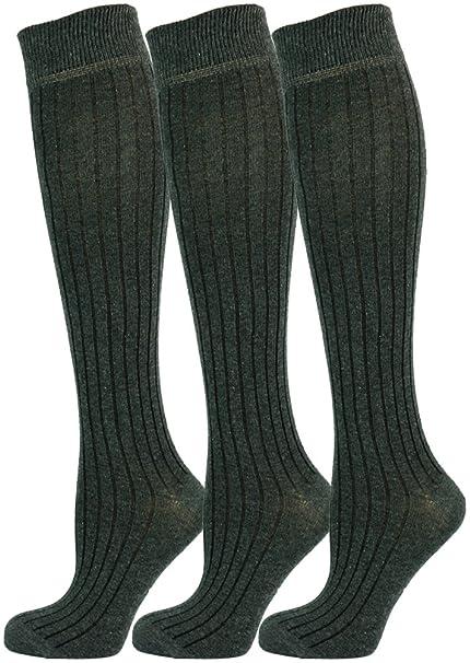 Mysocks® 3 pares de calcetines largos hasta la rodilla unisex ...