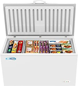 KoolMore Deep Chest Freezer with Two Wire Basket, 16 cu. ft. Large Food and Meat Storage, for Commercial and Home Use with ETL Certification