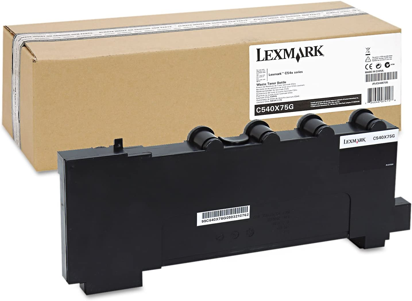 C543 X543 C544 X544 Waste Toner Bottle for Lexmark C540 DMi EA 36K Page Yield C540X75G Lexmark