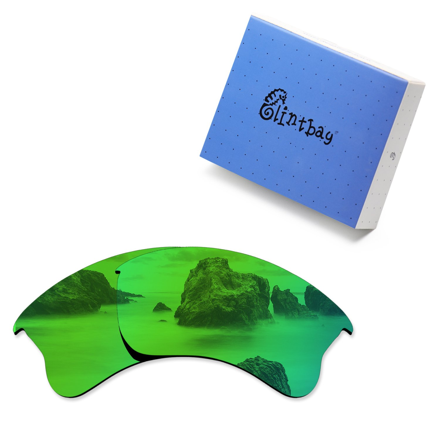Glintbay 100% Precise-Fit Replacement Sunglass Lenses for Oakley Flak Jacket XLJ - Polarized Green Mirror