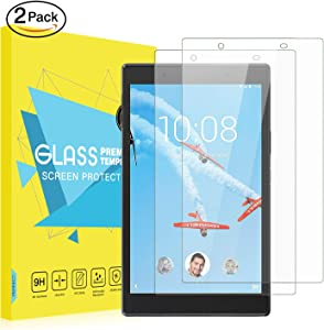 MoKo Screen Protector Compatible with Lenovo Tab 4 8 Inch, [2 Pack] Premium Anti-Scratch/Fingerprint 9H Hardness HD Clear Tempered Glass Screen Protector for Lenovo Tab 4 8 Inch Tablet - Clear
