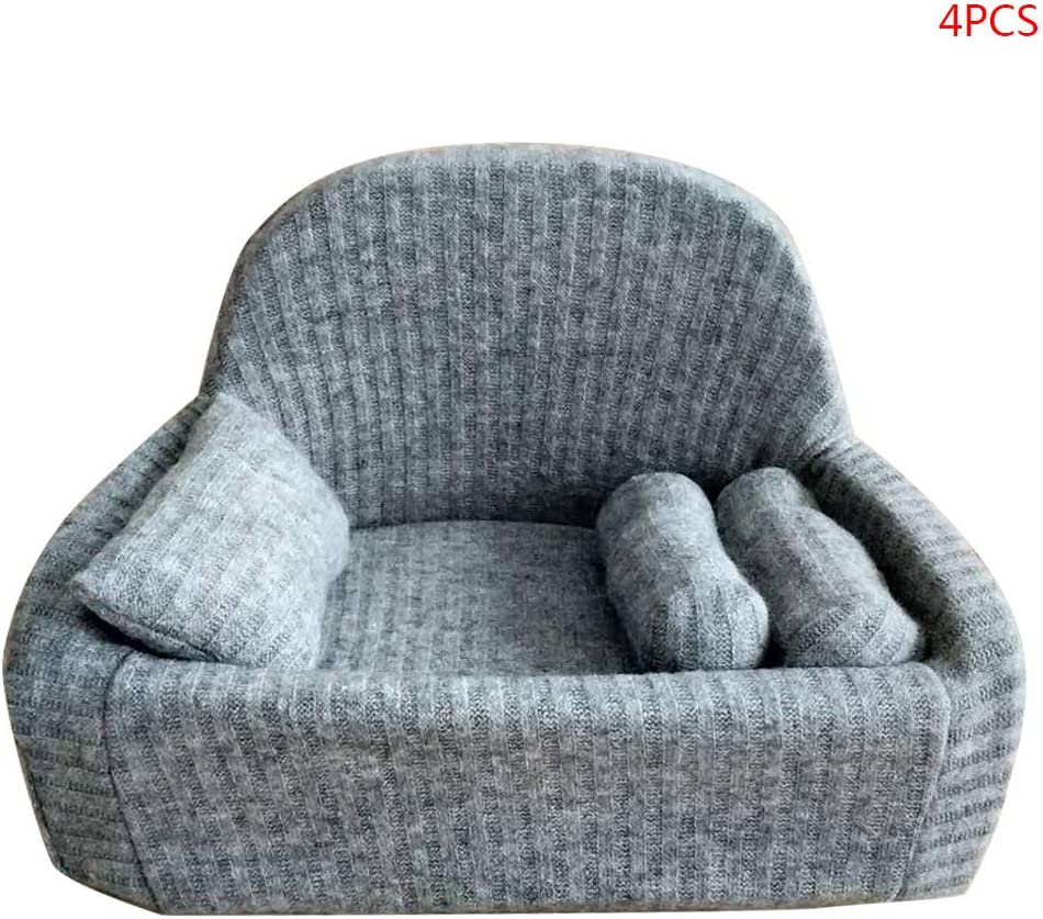 S-TROUBLE 4 Pcs/set Newborn Photography Props Baby Posing Sofa Pillow Set Chair Decoration 2-22