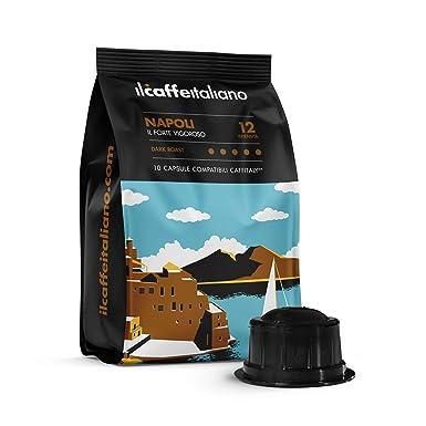 FRHOME - Caffitaly 100 Càpsulas compatibles - Il Caffè Italiano - Mezcla Napoli Intensidad 12