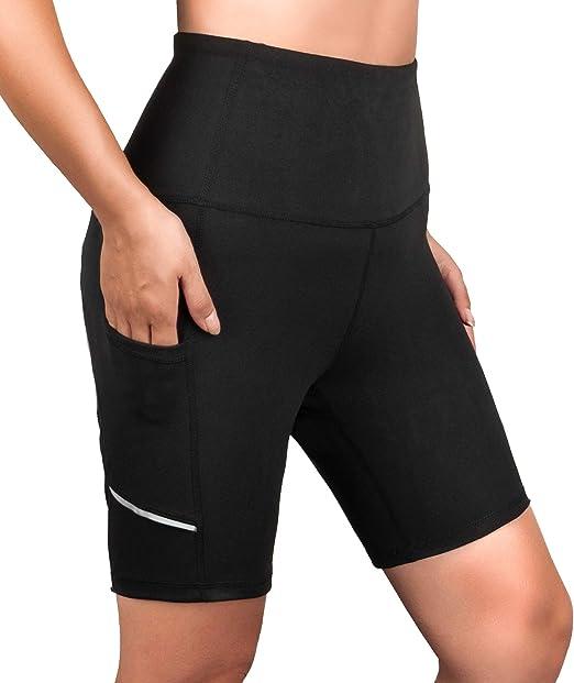 Amazon.com: Pantalones cortos de yoga de cintura alta para ...