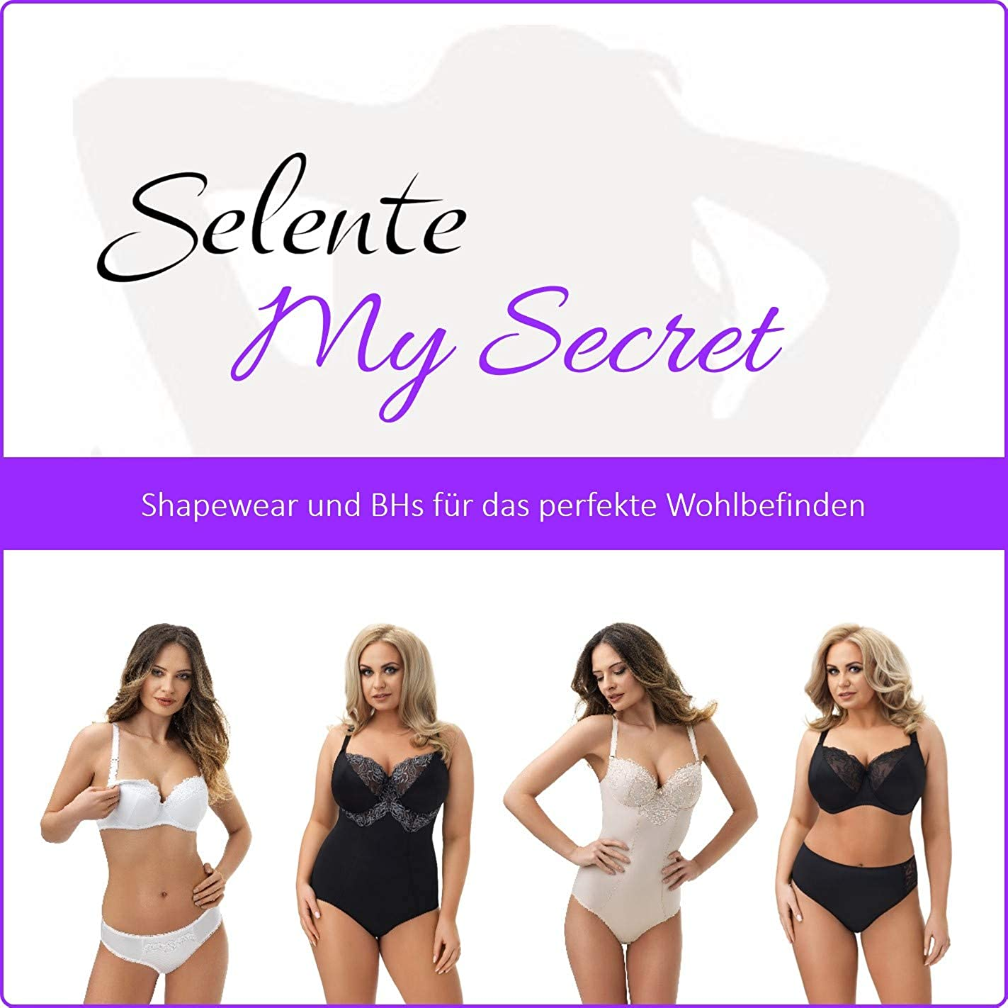 made in EU B-Cup to G-cup figure-shaping underwired body with elegant lace decoration in large sizes Selente My Secret shaping body