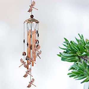 YMXBL Outdoor Dragonfly Wind Chimes Decoration, Gift for Mom, Dragonfly Wind Bell, Indoor Dragonflies Windchimes, Wind Catcher, Aluminum Dragonfly Chime, Home Decor Mobile Windchime, Garden Wind Chime