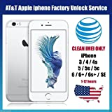 AT&T USA Factory Unlocking Service for All iPhone 6S, 6S+, 6+, 6, 5, 5S, 5C, 4, 4S Clean and Out of Contract IMEI only accepted. Your device will be unlocked permanently and will operate on any GSM network worldwide. Fast Processing Time 1-48 hours.