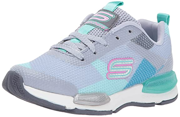 Skechers Kids Kids' Jumptech Sneaker,Gray/Aqua,